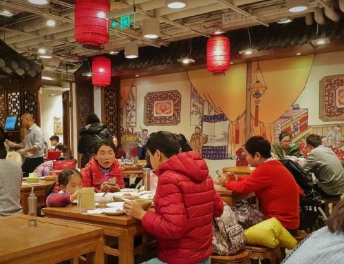 Restaurangbesök i Beijing
