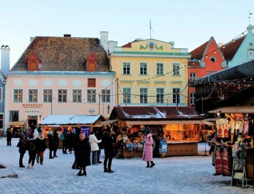 Julstämning i de baltiska huvudstäderna
